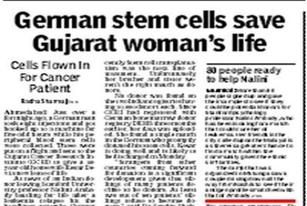 stem cell research newspaper articles Stem cell articles website is dedicated to all these stories, so that we can share them with our friends & family, to create awareness and spread hope above despair.